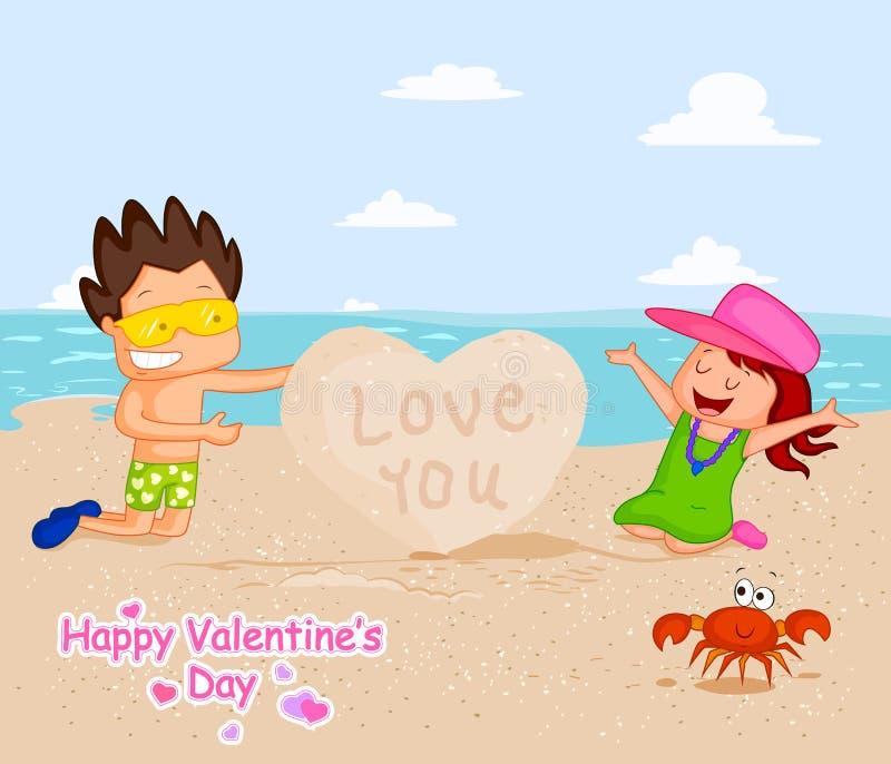 Förälskelsepar i valentin dag vektor illustrationer