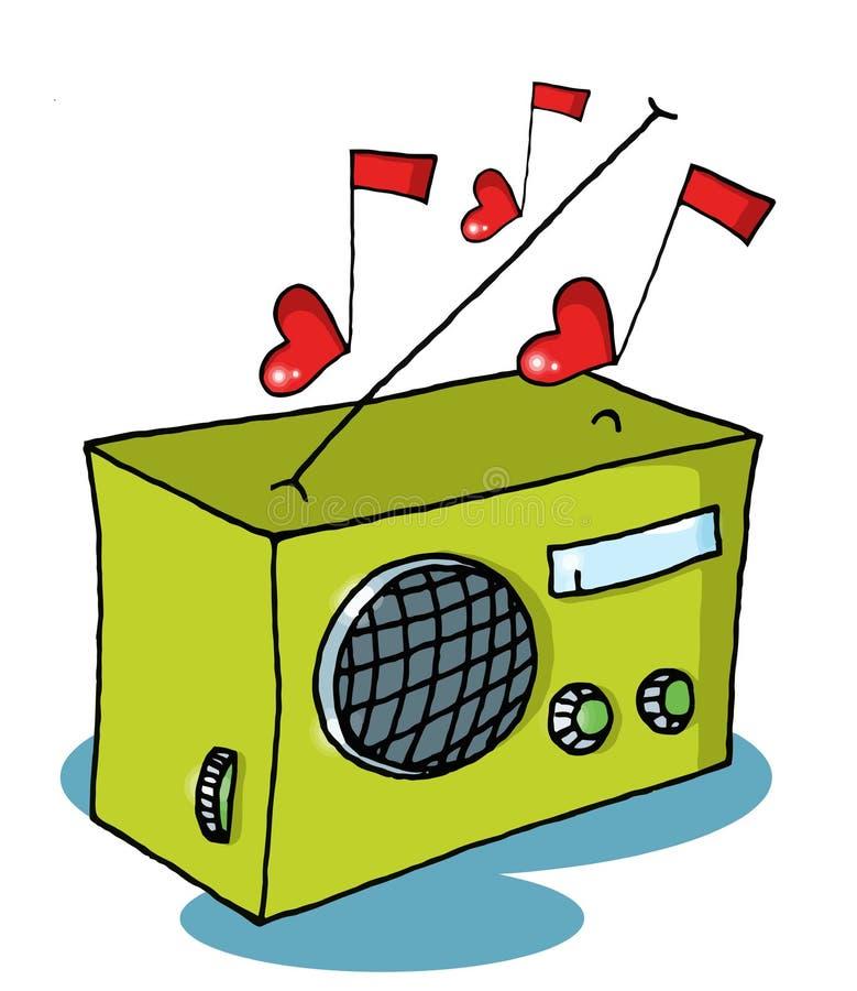 förälskelseradio royaltyfri illustrationer