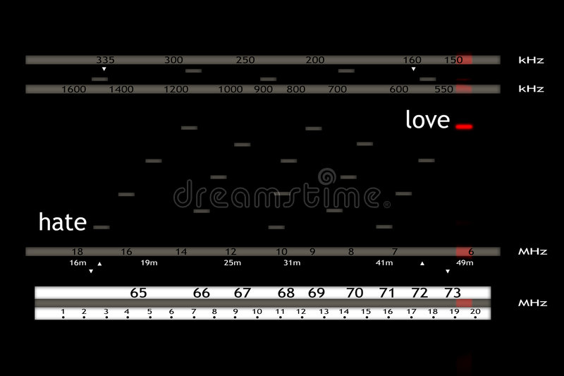 förälskelseradio vektor illustrationer