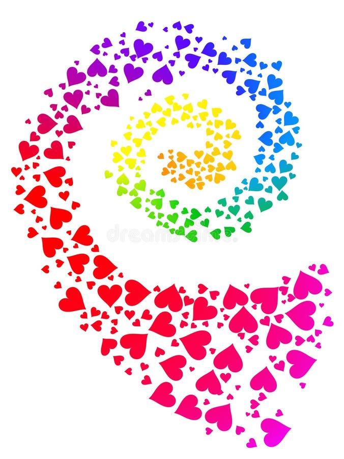 förälskelseregnbågespiral vektor illustrationer