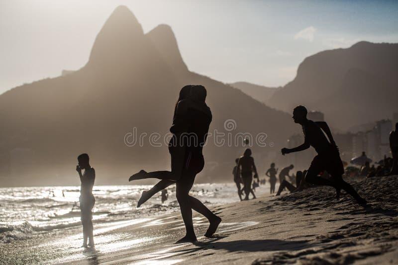 FörälskelseRio de Janeiro royaltyfri foto