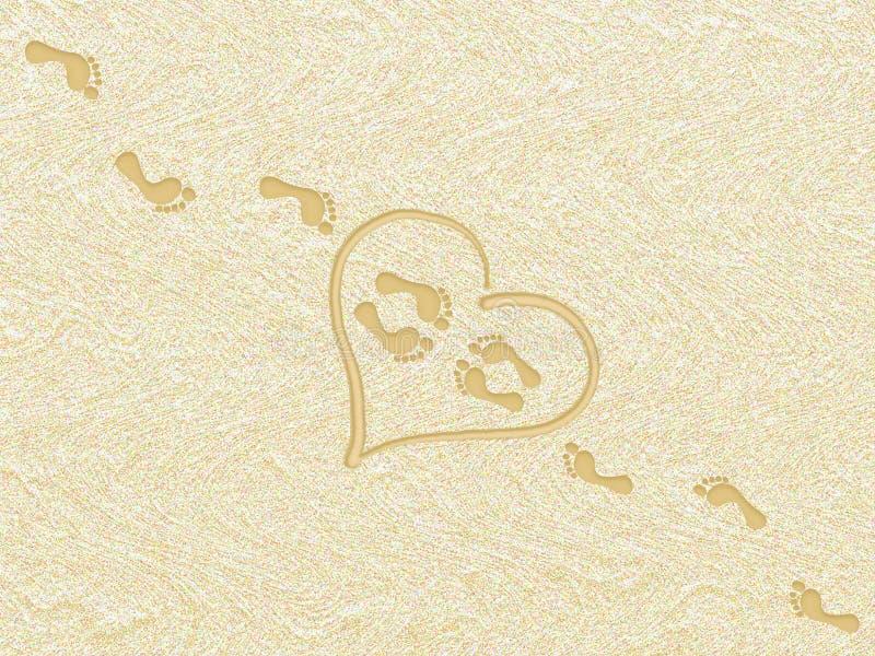 förälskelsesommar royaltyfri illustrationer