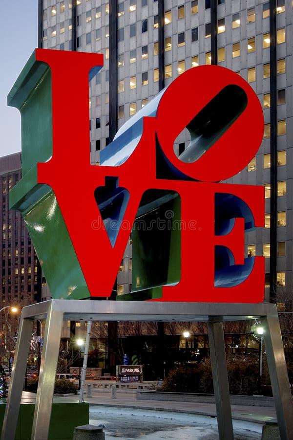 FÖRÄLSKELSEstaty, Philadelphia, Pennsylvania fotografering för bildbyråer