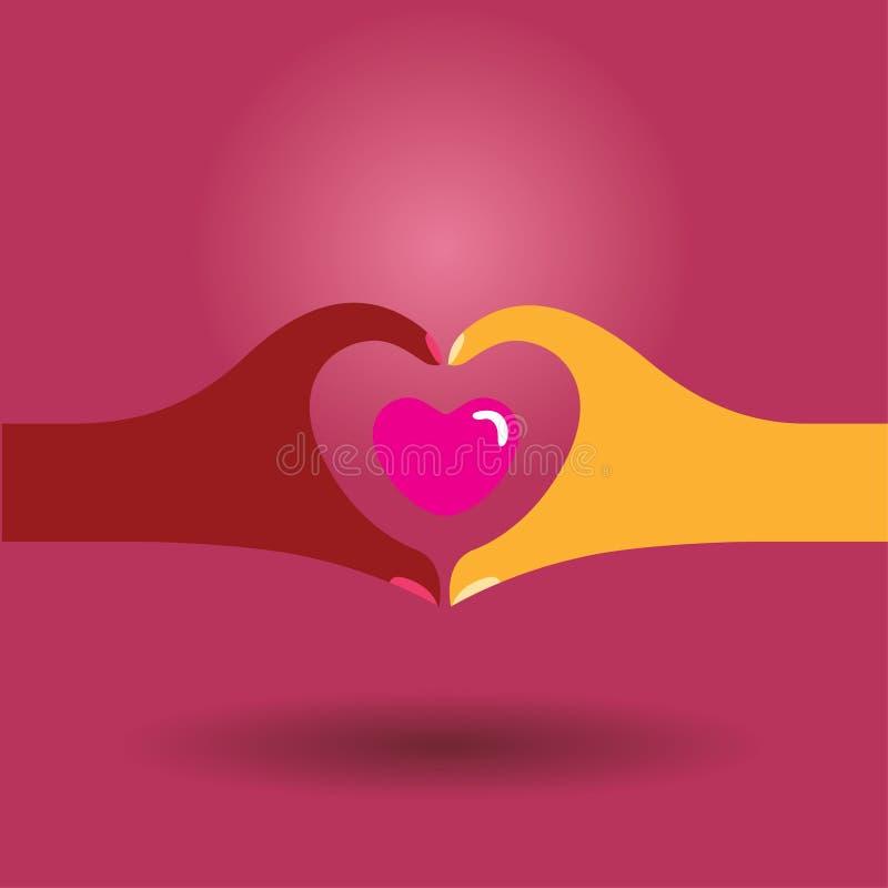 förälskelsesymbol stock illustrationer
