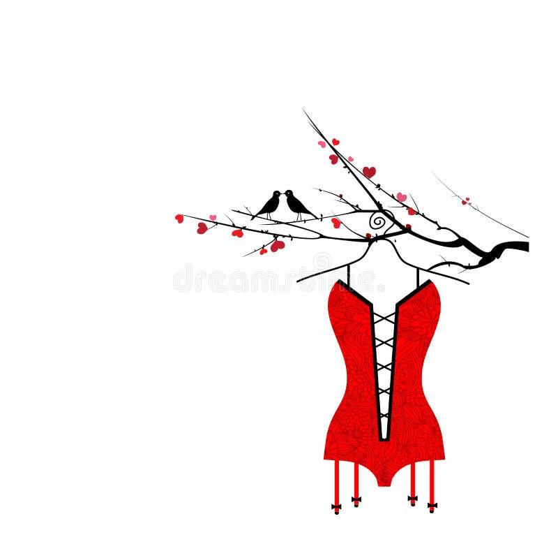 förälskelsetree stock illustrationer