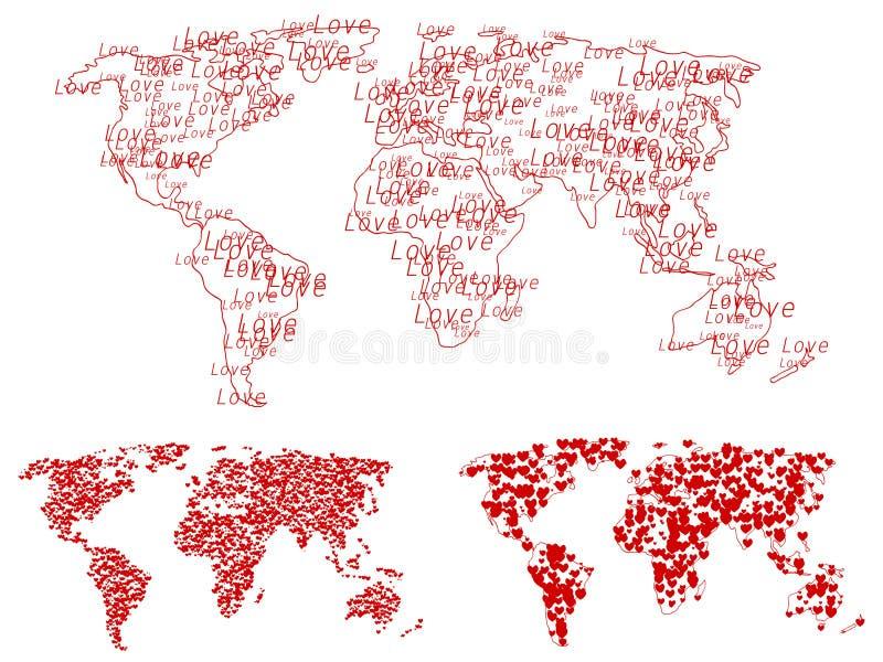 förälskelsevärld stock illustrationer