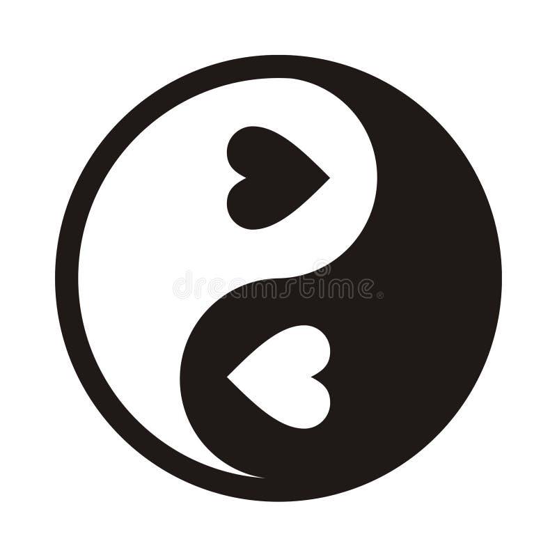 förälskelseyang yin stock illustrationer