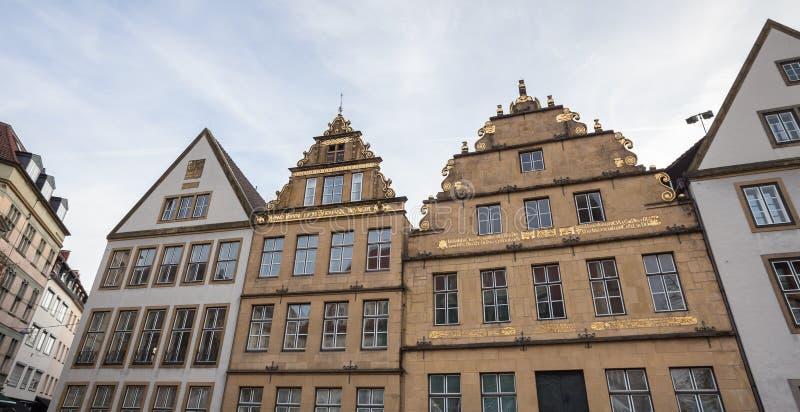 Förändra markt bielefeld Tyskland royaltyfri foto