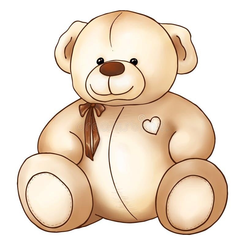 För älskvärd dag för ` s för valentin Teddy Bear för tecknad film leksak Sankt stock illustrationer