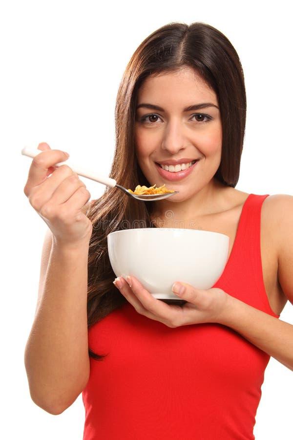 för ätaflicka för härlig frukost sädes- barn för leende arkivfoton