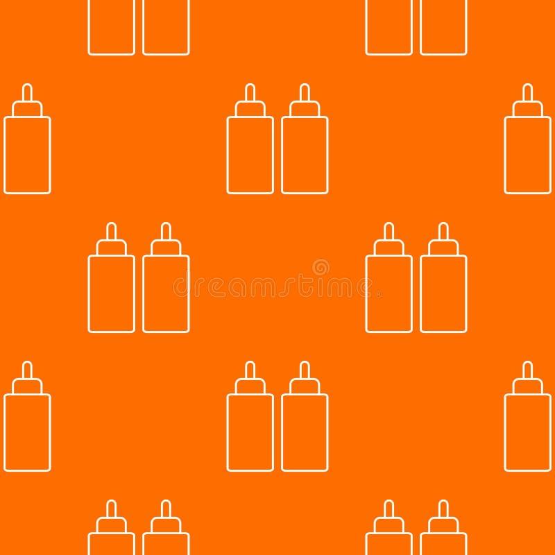 För åtstramningflaska för ketchup senapsgult apelsin för vektor för modell vektor illustrationer