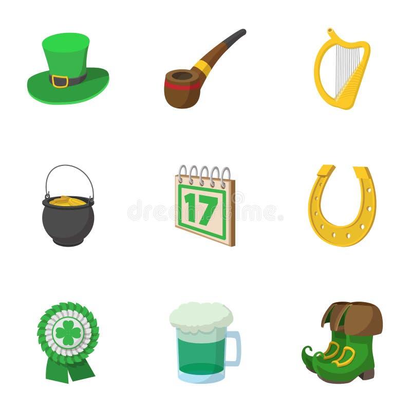 17 för ölfestival för marsch symboler ställde in, tecknad filmstil vektor illustrationer