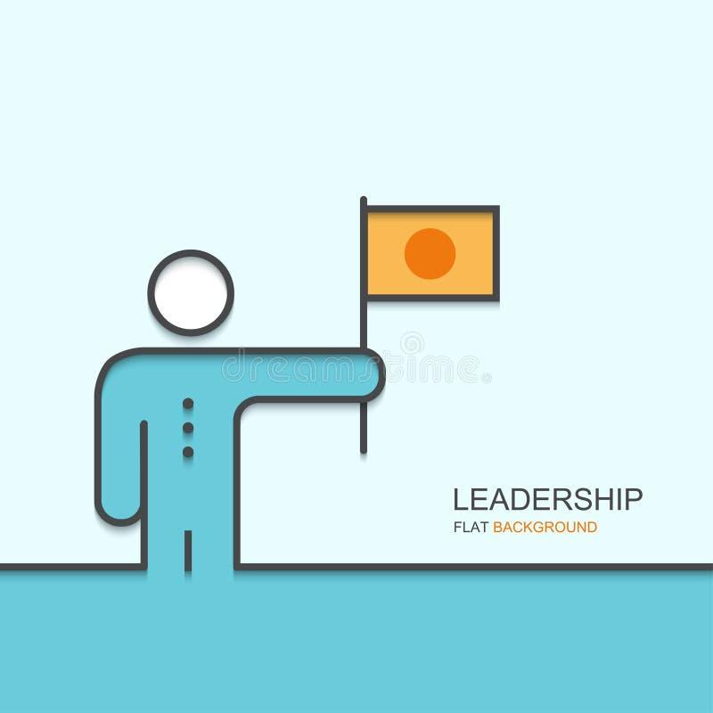 För översiktslägenhet för vektor modern design av ledarskap stock illustrationer