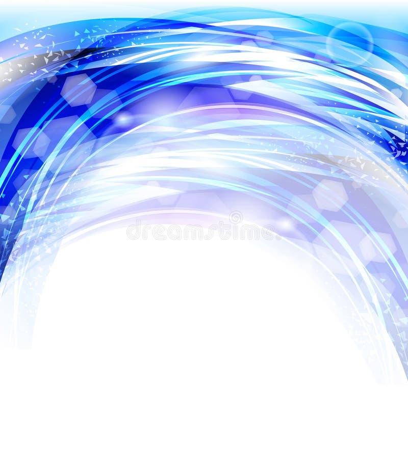 För abstrakt begreppblått för vektor enorma bakgrunder stock illustrationer