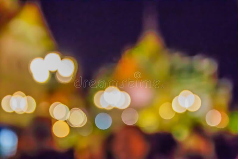 för abstrakt begreppbokeh för mjukt ljus tagande för bakgrund vid linssuddighet arkivfoto