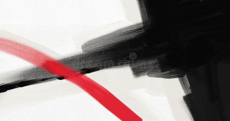 För abstrakt begreppstil för olje- målning konstverk på kanfas royaltyfria foton
