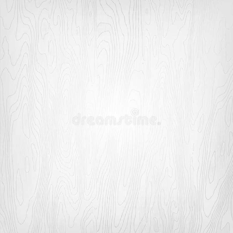 För abstrakt begreppvektor för vit fyrkant bakgrund -- naturlig vit wood textur, målade bräden, realistisk träbakgrund vektor illustrationer