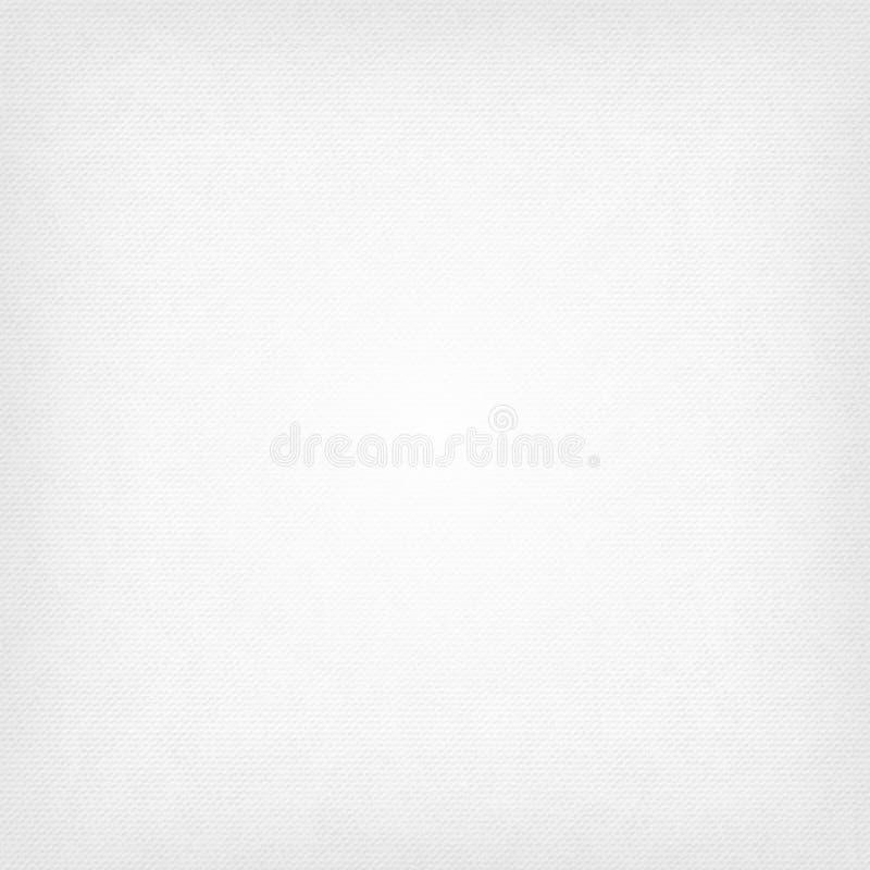 För abstrakt begreppvektor för vit fyrkant bakgrund -- texturgrov bomullstvill, tygtexturbakgrund stock illustrationer