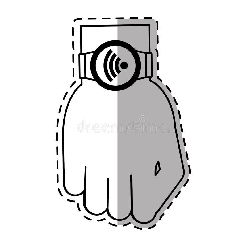 för accessoriewifi för smart klocka wearable skugga för anslutning royaltyfri illustrationer