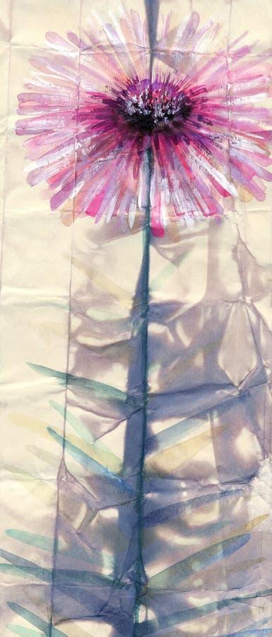 för Adobekorrigeringar hög för målning för photoshop för kvalitet för bildläsning vattenfärg mycket Abstrakt rosa färgblomma vektor illustrationer