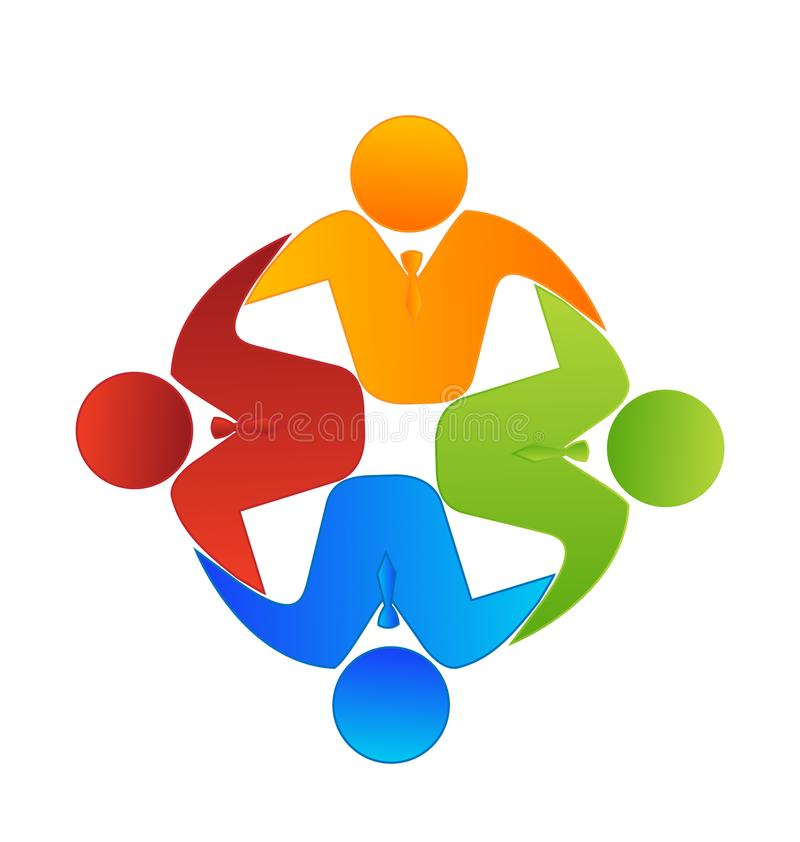 För affärsgrupp för teamwork utövande symbol stock illustrationer