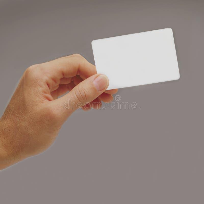 för affärskort för grupp blank holding för hand royaltyfri bild