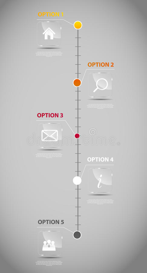 För affärsmall för Timeline infographic vektor royaltyfri illustrationer