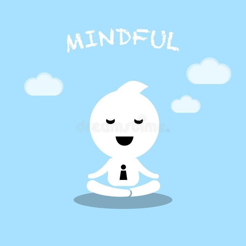 För affärsmanövning för abstrakt tecken begreppsmässig meditation ca stock illustrationer