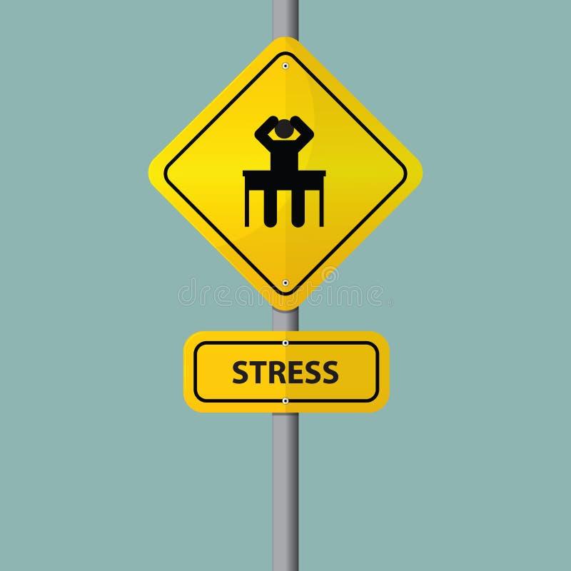 För affärsman tryck allvarligt i arbetsplats Pictogramsymbol med spänningsformuleringar på vägmärke vektor illustrationer