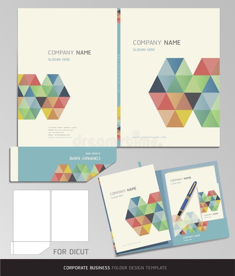 För affärsmapp för företags identitet mall. stock illustrationer