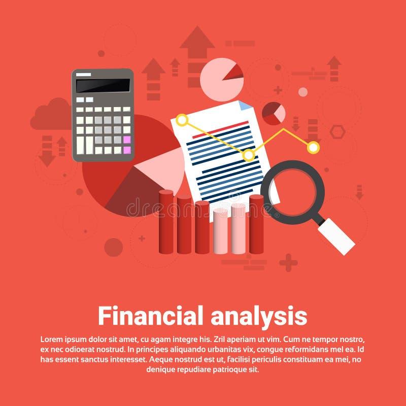 För affärsrengöringsduk för finansiell analys baner stock illustrationer