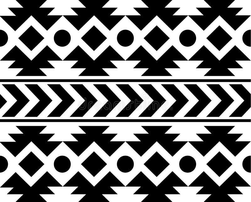 För afrikansk etnisk illustration för bakgrund för ans modellsvart för vektor vit royaltyfri illustrationer
