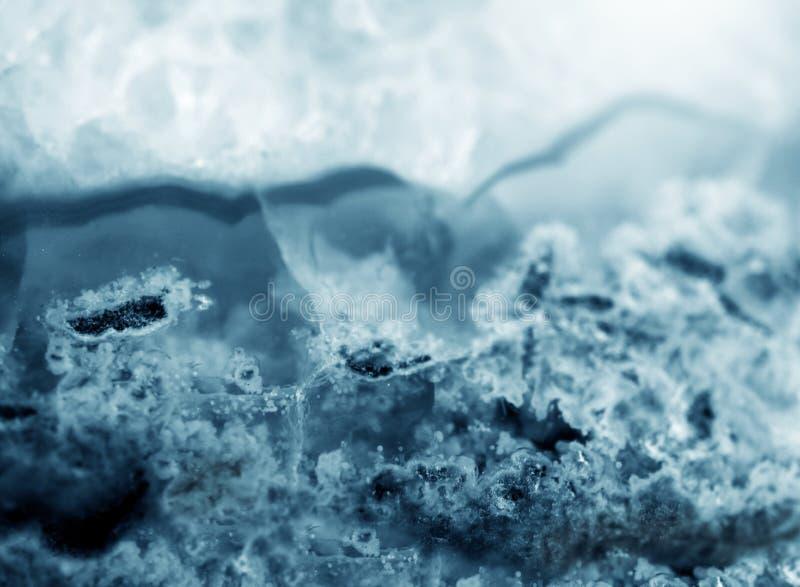 För agatmakro för Gemstone blå textur royaltyfria bilder