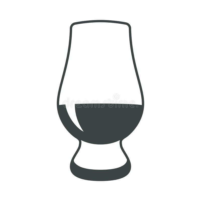 För alkoholsymbol för whisky glass etikett för logo för symbol för tecken för rengöringsduk för lägenhet vektor illustrationer