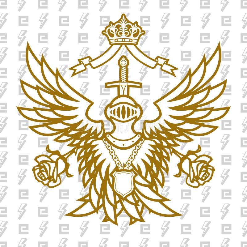 för alltid monarchy royaltyfri illustrationer