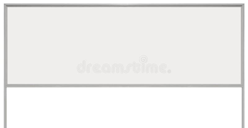För annonstecken för vit metall signage för bräde, isolerat tomt tomt utrymme för kopia för rektangel för vägrenadvertizingskylt, royaltyfria foton