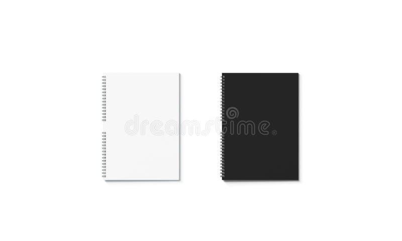 För anteckningsbokmodell för mellanrum som svartvit stängd uppsättning isoleras royaltyfri illustrationer