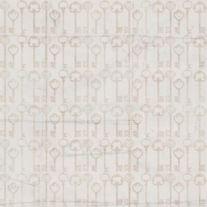För antik modell för repetition grå färgtangent för tappning sömlös royaltyfri illustrationer