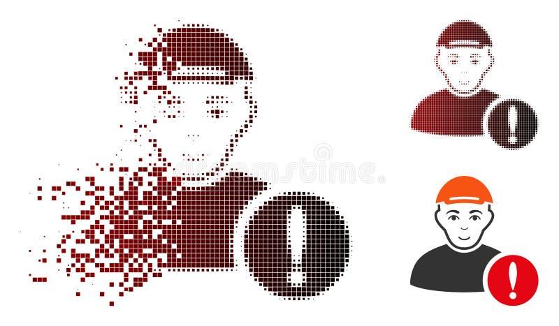 För användarefara för splittrat PIXEL rastrerad symbol med framsidan stock illustrationer
