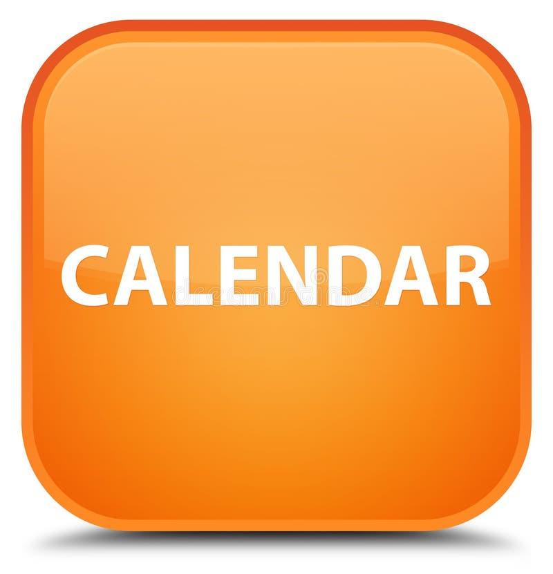 För apelsinfyrkant för kalender special knapp royaltyfri illustrationer