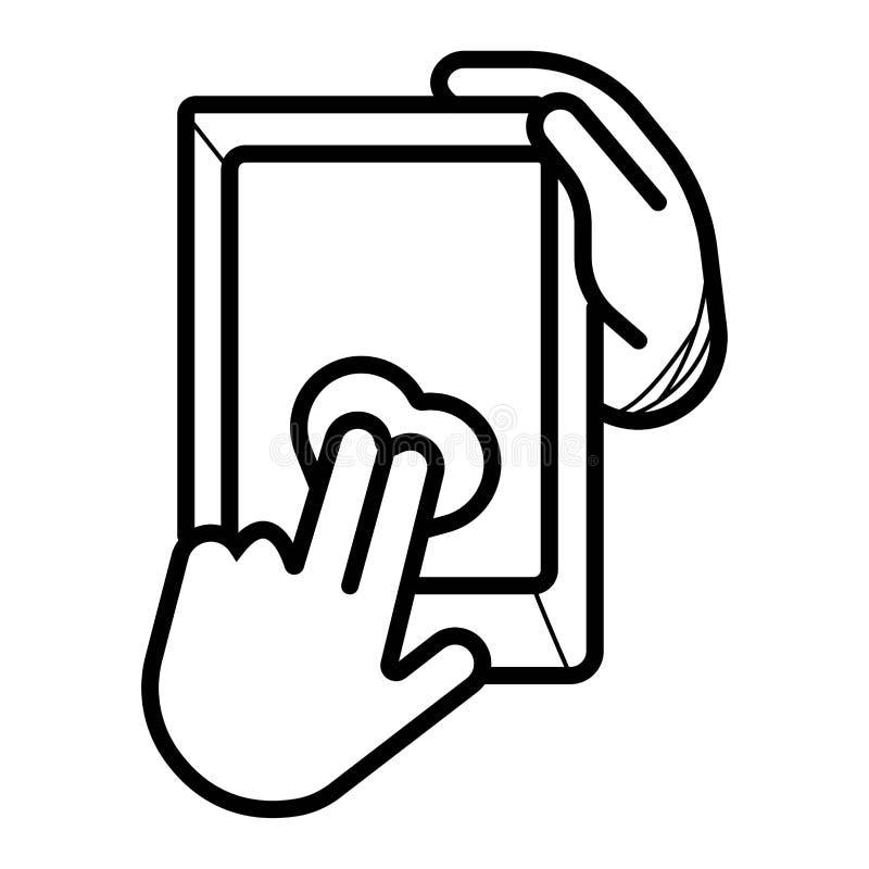 För för apparatminnestavlor och smartphones för kontroll olik vektor för symbol vektor illustrationer