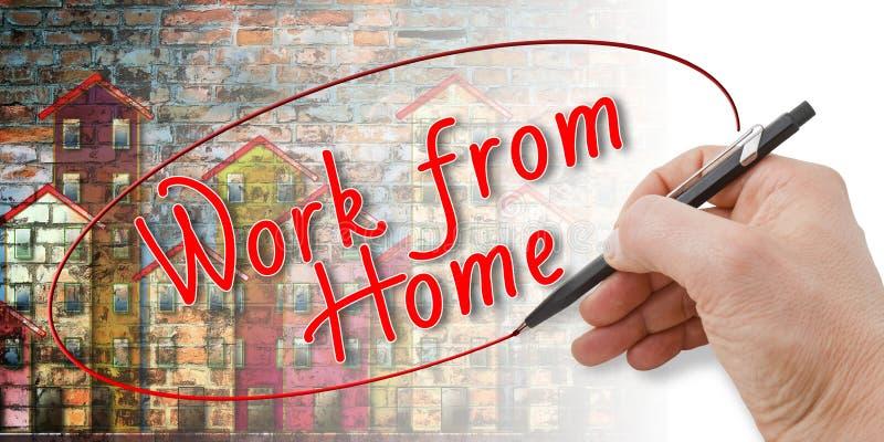 ` För arbete för handhandstil` hemifrån, arkivbild