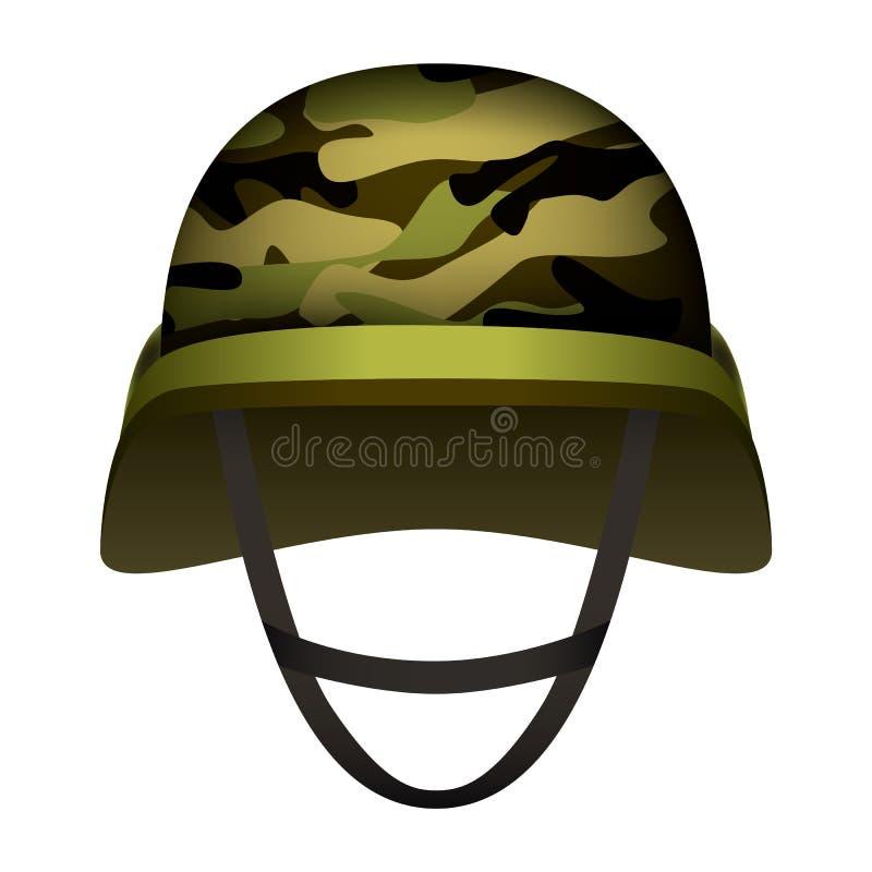 För arméhjälm för modern design modell, realistisk stil vektor illustrationer