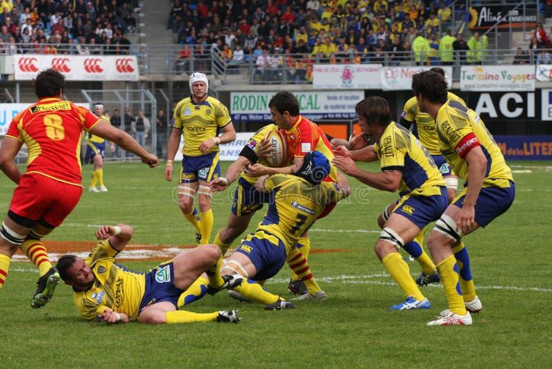 för auveclermont för 14 asm usap för överkant för rugby för match vs fotografering för bildbyråer