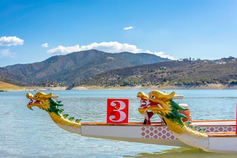 För av Dragon Boat - traditionell asiatisk barkass royaltyfri foto
