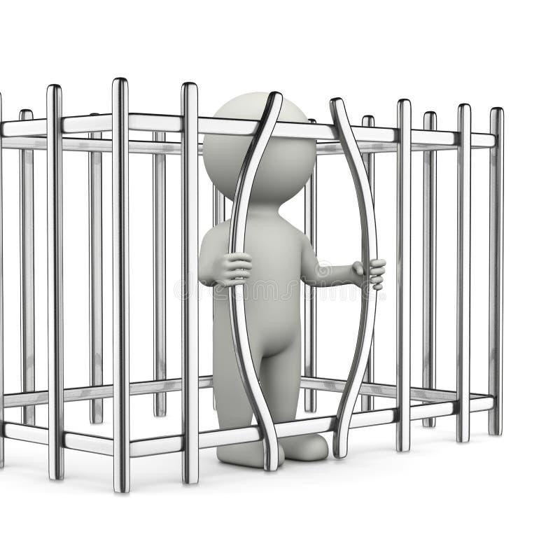 För avbrott tecken 3D ut royaltyfri illustrationer