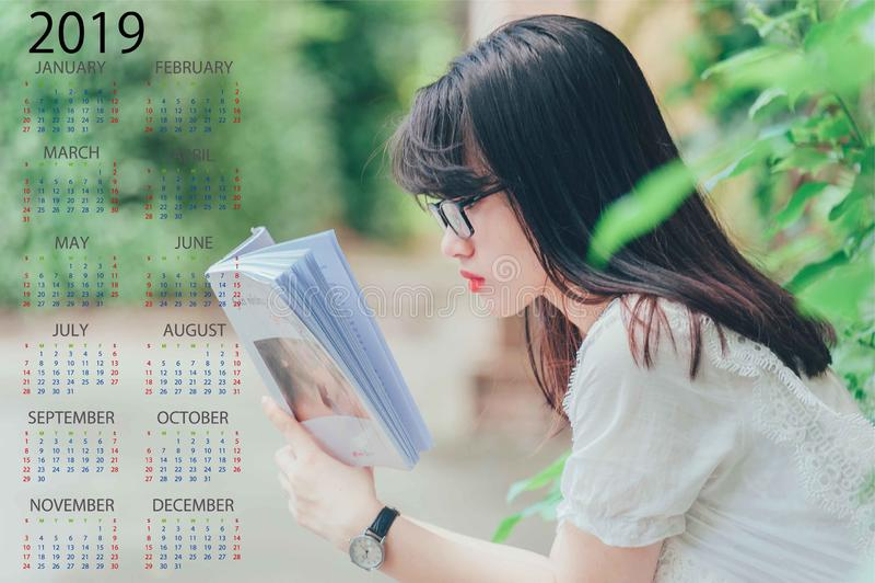 2019 för bästa kalender royaltyfri foto