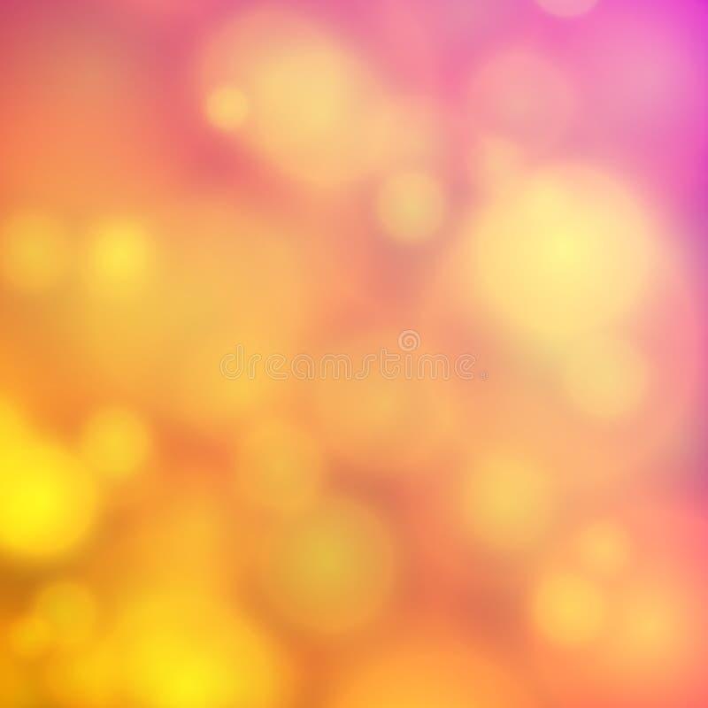 För backgroubndsuddighet för cirkel abstrakt ljus effect01 royaltyfri illustrationer