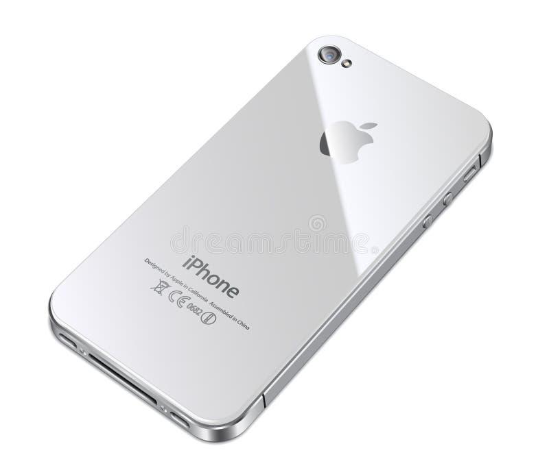 för backiphone för äpple 4s white vektor illustrationer