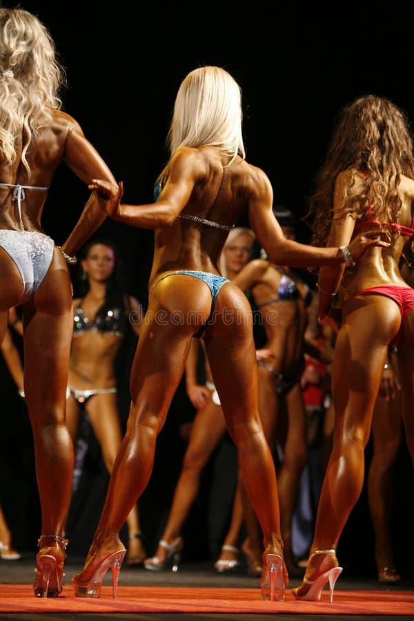 För baddräktkondition för flickor iklädd bikini royaltyfri foto
